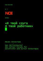 Nr. 5 ? Ausgabe 03/11 - Neues Osteuropa