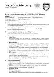 Referat af bestyrelsesmøde d. 22/05-2013 - Varde IF