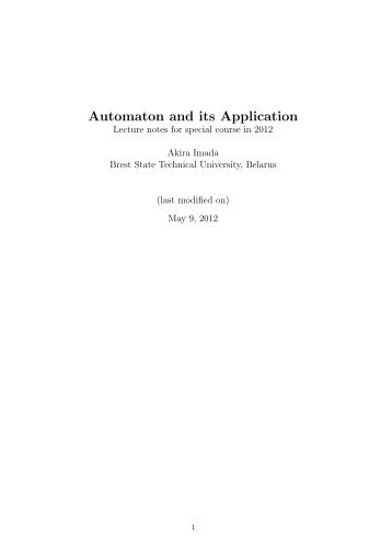 Automaton and its Application