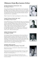 Okinawa Goju-Ryu karates livline - Aarhus Karateklub