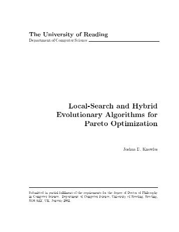 Local-Search and Hybrid Evolutionary Algorithms for Pareto ...