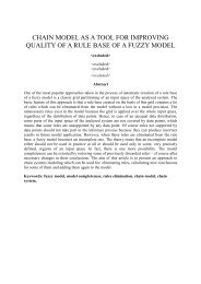 chain model as a tool for improving quality of a rule base of a fuzzy ...
