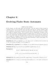 Chapter 6 Evolving Finite State Automata - BSTU Laboratory of ...