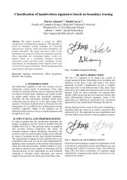 Classification of handwritten signatures based on boundary tracing