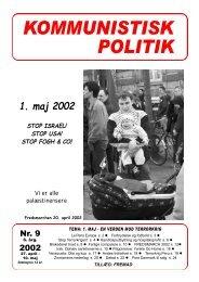 KP9, 2002 - Kommunistisk Politik