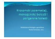 (Microsoft PowerPoint - Krosomski poreme\346aji, monogeneske ...