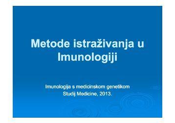 Metode istraživanja u Imunologiji