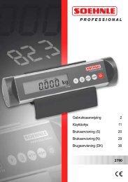 Brugsanvisning - med BMI funktion - Cobi