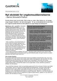 Nyt skoleløb for ungdomsuddannelserne - Garmin SchoolsOnTheRun