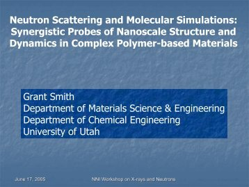 Synergism of Neutron Scattering and Molecular Simulations in ...