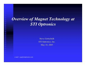 Overview of Magnet Technology at STI Optronics
