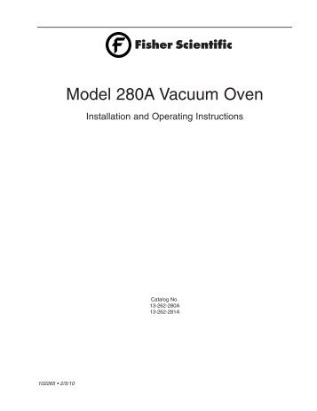 Model 280A Vacuum Oven - Spallation Neutron Source