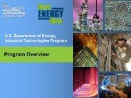 U.S. Department of Energy – Industrial Technologies Program