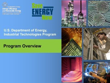 U.S. Department of Energy – Industrial Technologies Program