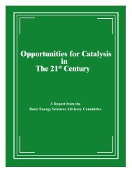 Opportunities for Catalysis in the 21st Century - Office of Science ...