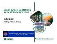 Small Angle Scattering of neutrons and xrays - NeutronXraySchool ...