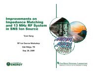 Improvements on Impedance Matching and 13 MHz RF System in ...