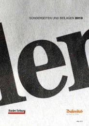 SONDERSEITEN UND BEILAGEN 2013 - Basler Zeitung