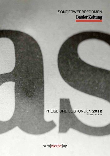 preise und leistungen 2012 sonderwerbeformen - Basler Zeitung