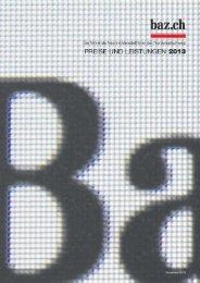 Basler Zeitung Online_Preisdokumentation_2013.indd