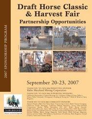 Draft Horse Classic & Harvest Fair - Nevada County Fairgrounds