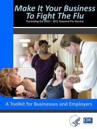 Make It Your Business To Fight The Flu: A Toolkit for Businesses ...
