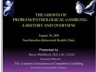 THE GHOSTS OF PROBLEM/PATHOLOGICAL GAMBLING- A ...