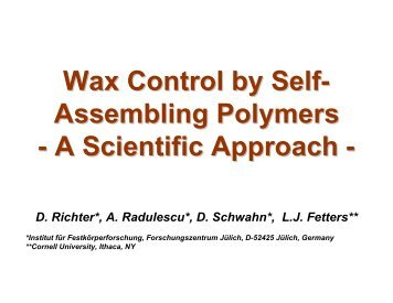Wax crystal modification