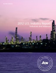 2012 U.S. Industry Report: - Aon