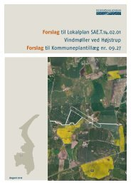 Forslag til Lokalplan SAE.T.14.02.01 Vindmøller ved Højstrup ...