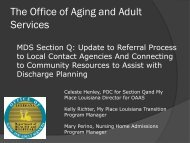 The Office of Aging and Adult Services