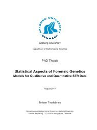 Statistical Aspects of Forensic Genetics - Department of Mathematics