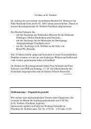 10 Jahre in St. Norbert Im Auftrag des inzwischen ... - Heimat.de