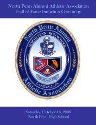 2006 NPAAA Hall of Fame Inductees - North Penn Alumni Athletic ...