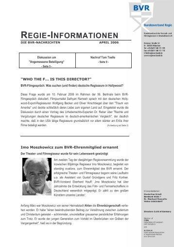 REGIE-INFORMATIONEN - Heimat.de