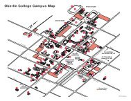 oberlin college campus map Downtown Oberlin Map Oberlin College oberlin college campus map