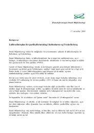 Luftkvalitetsplan for partikelforurening i Københavns og Frederiksberg