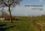 Vindmøller ved Bregninge på Ærø - VVM-redegørelse og miljørapport