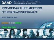 PRE-DEPARTURE MEETING - DAAD
