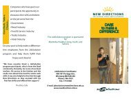 DARE to make a DIFFERENCE - New Directions