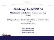 Sidste nyt fra MEPC 64 - Skibsteknisk Selskab