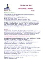 Meeting Gods & Goddesses, 8 nov 2008 - NewLegalFrame.com