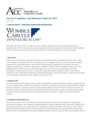Top Ten Compliance and Disclosure Topics for 2012 - ACC News