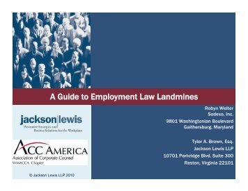 A Guide to Employment Law Landmines - ACC News