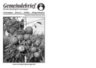 September/Oktober/November 2009 - Nachrichten im Kirchspiel ...