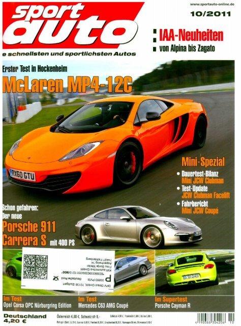 sport auto 10-2011 - MTM A1 Nardo Edition - KW-News Login