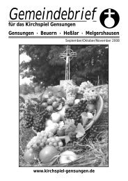 September/Oktober/November 2008 - Nachrichten im Kirchspiel ...