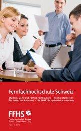 Aus- und Weiterbildungsangebot an der FFHS im Überblick (PDF)