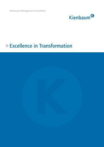 Excellence in Transformation