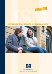 INTERNATIONAL SCHOOL OF MANAGEMENT - Staufenbiel Institut
